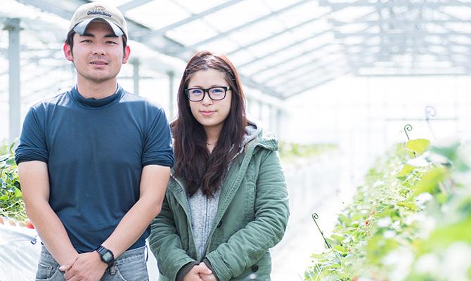越谷いちご須賀農園の兄弟の写真