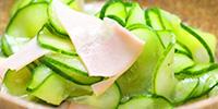 須賀農園の野菜で作ったレシピ   きゅうりの酢の物