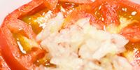 須賀農園の野菜で作ったレシピ | トマトと玉ねぎのサラダ